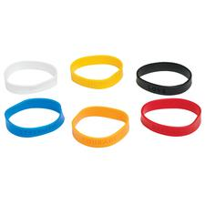 Assorted Solid Color Sayings Bracelets, Assorted, 24/Pkg