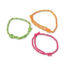 Neon Friendship Rope Bracelets, Assorted Colors,  Adjustable, 72/Pkg