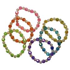 Crystal Stretch Bracelets, Assorted Colors, 24/Pkg