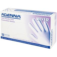 Adenna® Silver Latex Powder Free Exam Glove – Smooth Surface, Polymer Coated, Lowest Allowable Protein