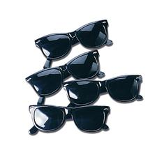 "Sunglasses, Black, 5-1/2"" W x 1-3/4"" H x 6"" D, 12/Box"