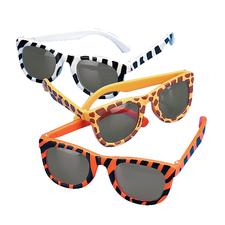 "Animal Print Sunglasses, Assorted, 5"" W x 1-3/4"" H, 12/Pkg"