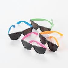 "Neon Sunglasses, Assorted Neon Colors, 5-1/2"" W x 2"" H, 12/Pkg"