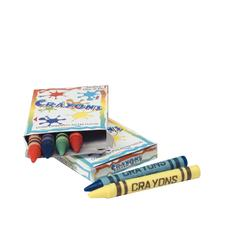 Crayons, Assorted Colors, 6 Crayons/Box; 48 Boxes/Pkg