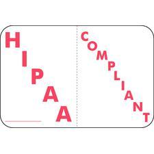 "HIPAA Compliant Label, White, 1-1/2"" W x 1"" H, 225/Pkg"