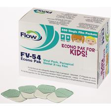 Flow Xpress™ F Speed Intraoral X-ray Film – FV-54 (Size 0 Child), Pedo Pak, 100/Pkg