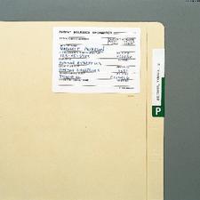 "Insurance Information Label, White, 4"" W x 3"" H, 300/Pkg"