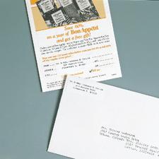 "Personalized Return Address Labels, White, 2"" W x 3/4"" H, 500/Pkg"