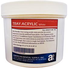 Tray Acrylic Material – White, Powder