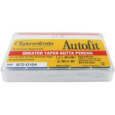 Autofit Greater Taper Gutta Percha Points, 50/Pkg