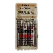 Radix-Anchor® S-Limit Spiral Bur, 6/Pkg