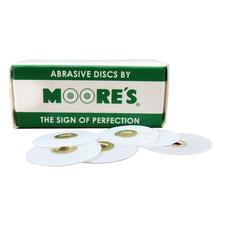 Plastic Brass Center Discs – Sand, 50/Pkg