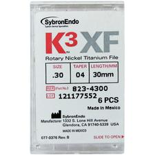 K3™ XF NiTi Files – 30 mm, 6/Pkg