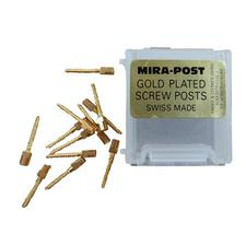 Mirapost Classic Gold Plated Screw Posts – Refill, 12/Pkg
