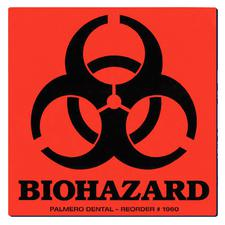 "Biohazard Warning Labels – 3"" x 3"", 100/Roll"