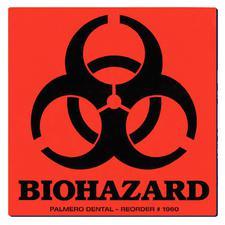 """Étiquettes d'avertissement de danger biologique– 3"""" x 3"""" 100/rouleau"""