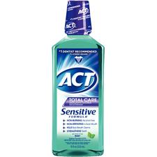 ACT® Sensitive Mouthwash – Mint, 18 oz