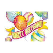 Birthday 4-Up Laser Postcards, 100/Pkg