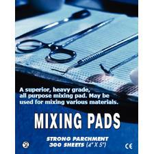 """Parchment Paper Mixing Pads – 4"""" x 5"""", 100 Sheets/Pad, 3 Pads/Pkg"""