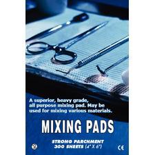 """Parchment Paper Mixing Pads – 4"""" x 6"""", 100 Sheets/Pad, 3 Pads/Pkg"""
