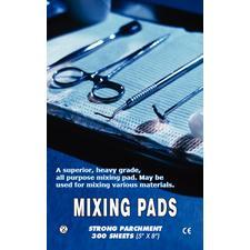 """Parchment Paper Mixing Pads – 5"""" x 8"""", 100 Sheets/Pad, 3 Pads/Pkg"""