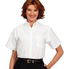 Fashion Seal Healthcare® Ladies' Oxford Short Sleeve Shirt