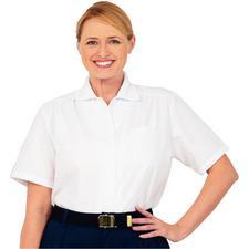 Fashion Seal Healthcare® Short Sleeve Oxford Blouse