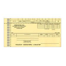 Dual Purpose Check to fit Control-O-Fax®, 1 Part,<b><i> </b></i>7-1/2&#34; W x 4-1/4&#34; H (includes 3/4&#34; payroll stub), 500/Pkg