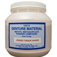 Teets Denture Material – Heat Cure, Powder and Liquid