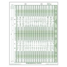 """Periodontal Status Form, 8-1/2"""" W x 11"""" H, 100/Pkg"""