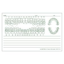 "Examination Forms, 5-1/2"" W x 3-1/2"" H, 100 Sheets/Pad; 5 Pads/Pkg"