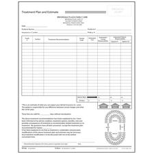 "Treatment Plan and Estimate, 2 Part, Personalized, 8-1/2"" W x 11"" H, 100 Sets/Pkg"