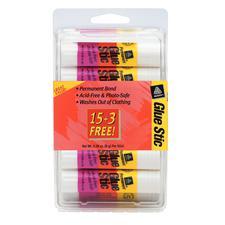 Avery Glue Stic Bonus Pack, Clear, 0.26 oz, 18/Pkg