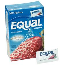 Equal Sugar Substitute, 100 packets/box