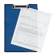 "Baumgarten's Double-Panel See-Through Clipboard, 8-1/2"" x 12"""