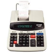 Victor 12-Digit 2-Color Commercial Printing Calculator with Super Large 2-Color Display and Ink Roller