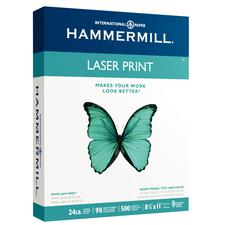 Hammermill Laser Print Paper, Radiant White, 500/Pkg