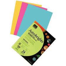 Astrobrights Card Stock, 65 lb, 250/Pkg