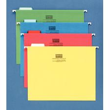 Sparco Colored Hanging File Folders, Fifth Tab Cut, 25/Box