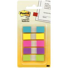 "Post-It® Flags In Assorted Brights,  0.47"" x 1.75"", 100 Flags/Pkg"