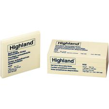 Highland Notes, Yellow, 12 Pads/Pkg