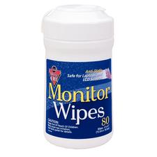 "Anti-Static Monitor Wipes, 6"" x 8"", 70 Wipes/Pkg"