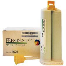 Matériau pour empreintes à base de VPS PRESIDENT® JET- Matériau de rebasage, 2cartouches (50mL)