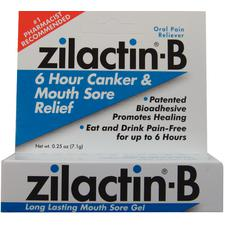 Zilactin®-B Canker and Mouth Sore Gel, 0.25 oz