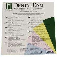 "Hygenic® Dental Dam Convenience Pack – Adults,  6"" x 6"", 360/Pkg"