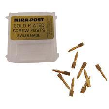 Tenons Mirapost plaqués or classiques à vis – Recharge, 12/emballage