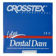 "Latex Dental Dam – Unflavored, Blue, 6"" x 6"", 36/Box"