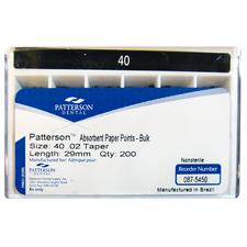 Patterson® Absorbent Paper Points – Nonsterile, 200/Box