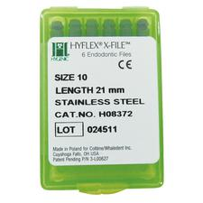 Hygenic® Hyflex® X-File® Stainless Steel – 21 mm, 6/Pkg