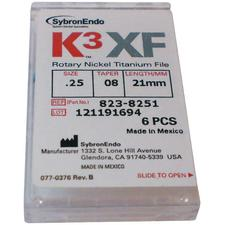 K3™ XF NiTi Files – 21 mm, 6/Pkg